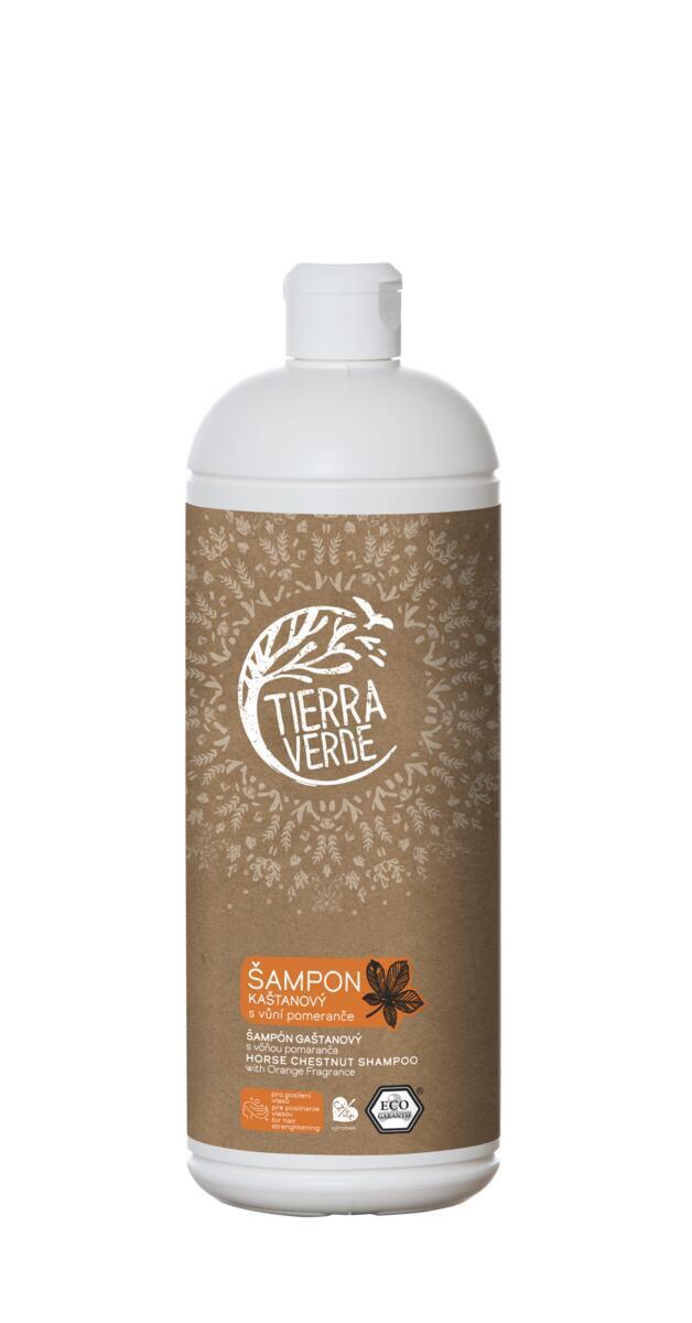 Použití produktu Šampon kaštanový svůní pomeranče (lahev 1 l)