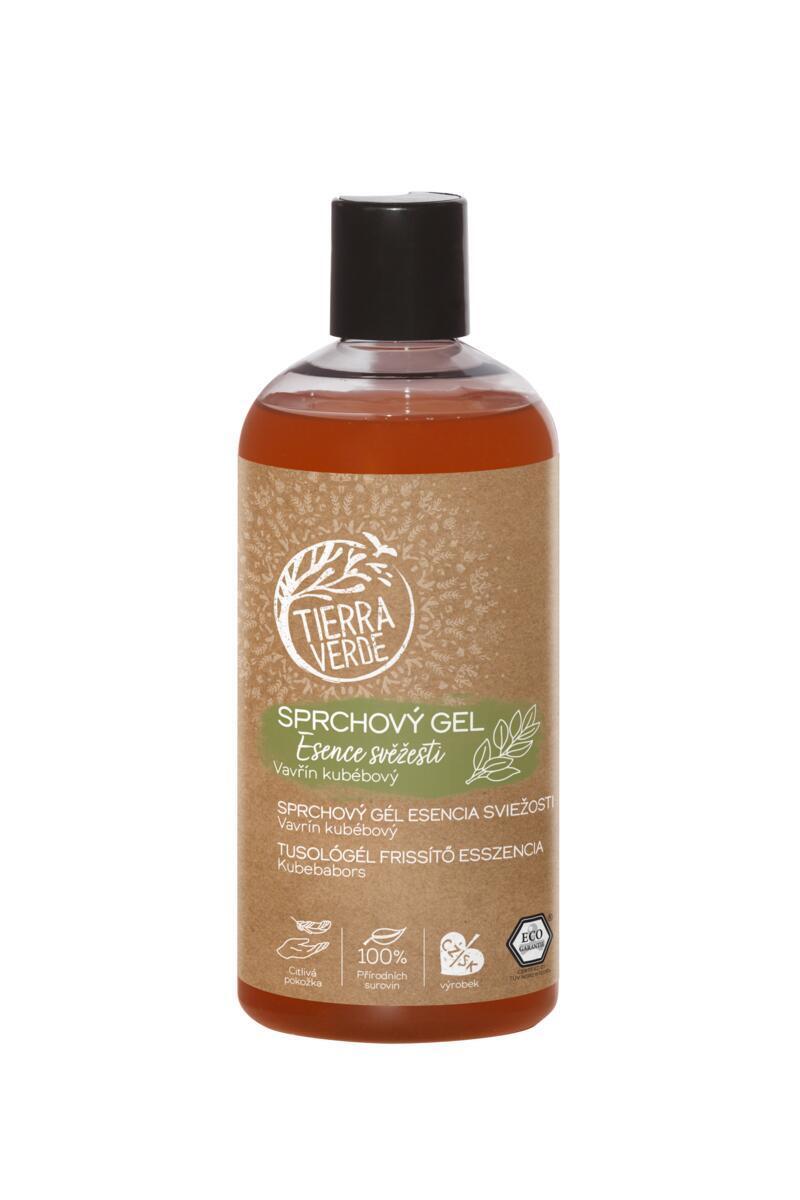 Použití produktu Sprchový gel Esence svěžesti (lahev 500 ml)
