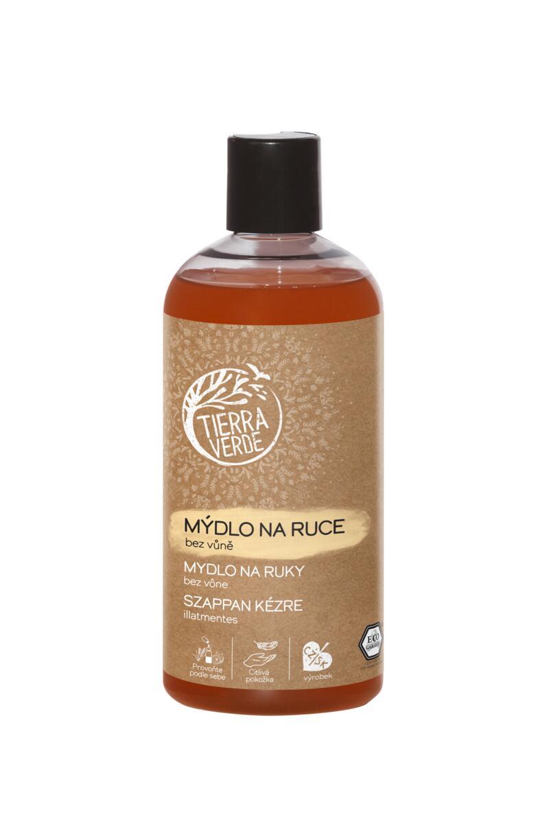 Tekuté mýdlo na ruce – bez vůně (lahev 500 ml)